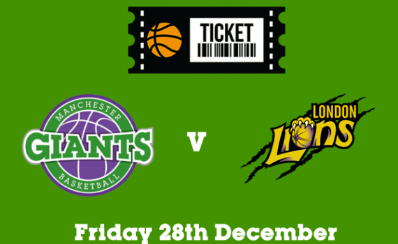 v London Lions, Fri 28 Dec 2018 (7.30pm)
